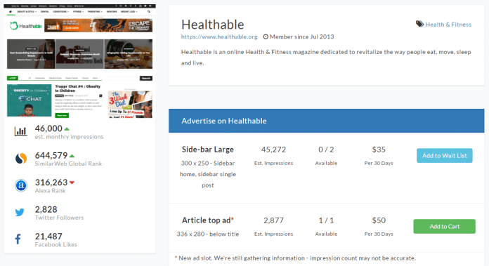 Advertise on Healthable AdClerks