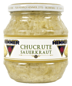 Jar of Chucrute / Sauerkraut sold by Hemmer in Brazil.