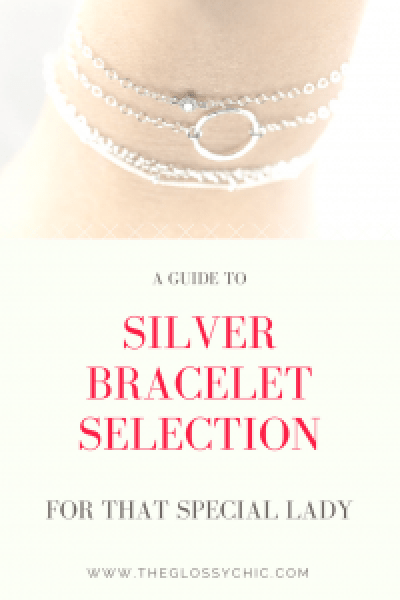 silver bracelet selection
