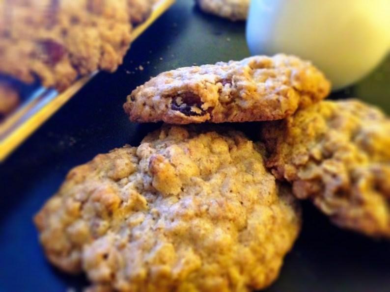 pecan oatmeal raisin cookies I