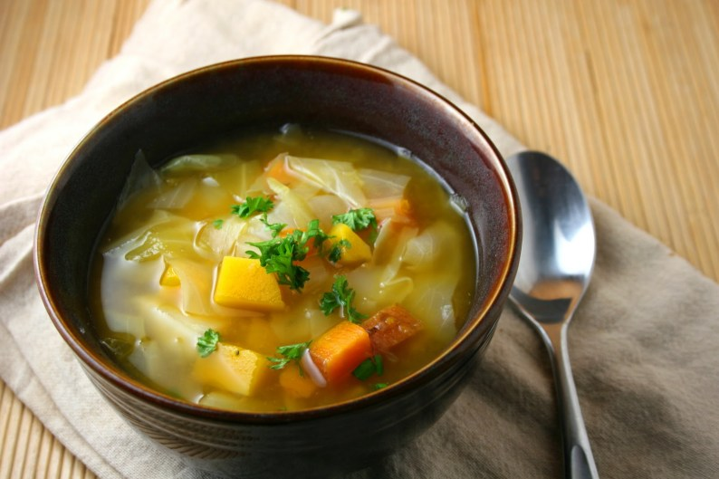sweet potato cabbage soup