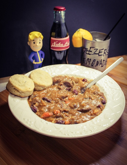 Radstag Stew from Fallout4, a pressure cooker/instant pot recipe for hungry Wastelanders. Recipe by The Gluttonous Geek.