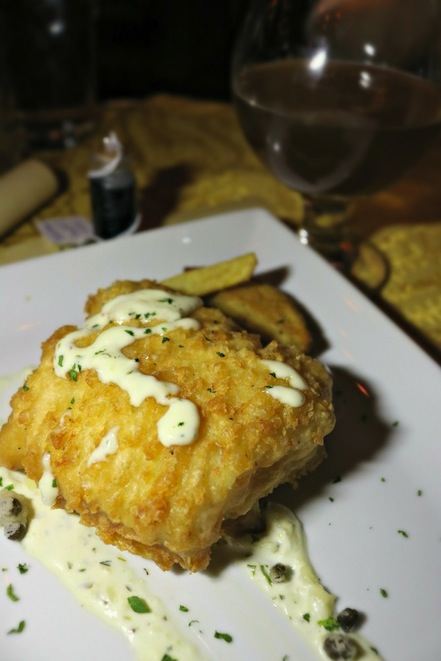 Fish and Chips in The Gluttonous Geek's recap of the 2016 Hogwarts Yule Dinner at Battle and Brew.