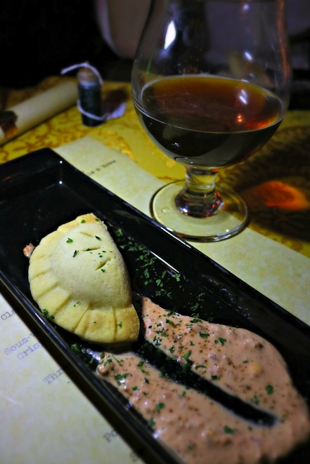 Vegetable Pies in The Gluttonous Geek's recap of the 2016 Hogwarts Yule Dinner at Battle and Brew.