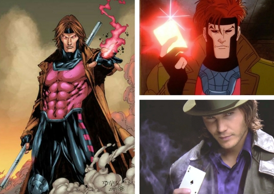 The many faces of Gambit.