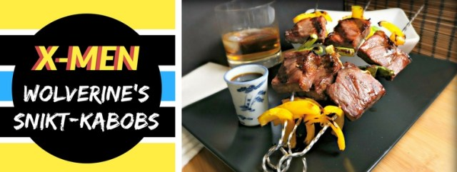 Wolverine's Snikt-Kabobs - Beef Kushiyaki with a Whiskey Maple Teriyaki Sauce, inspired by The X-Men. Recipe by The Gluttonous Geek.