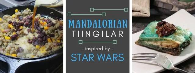 Mandalorian Tiingilar inspired by Star Wars. Recipe by The Gluttonous Geek.