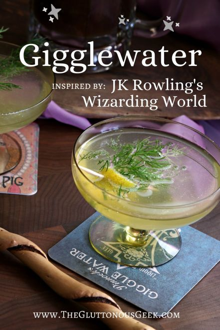 Gigglewater inspired by Fantastic Beasts and Where to Find them by JK Rowling. Recipe by The Gluttonous Geek.