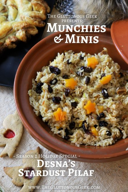 Desna's Stardust Pilaf inspired by Paizo's Pathfinder RPG. Recipe by The Gluttonous Geek.