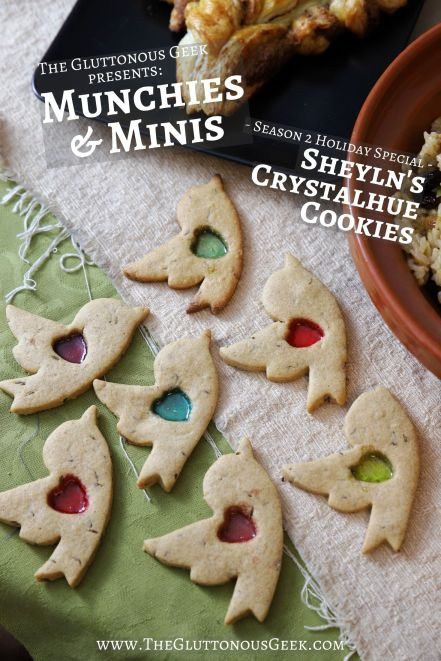 Sheyln's Crystalhue Cookies inspired by Paizo's Pathfinder RPG. Recipe by The Gluttonous Geek.