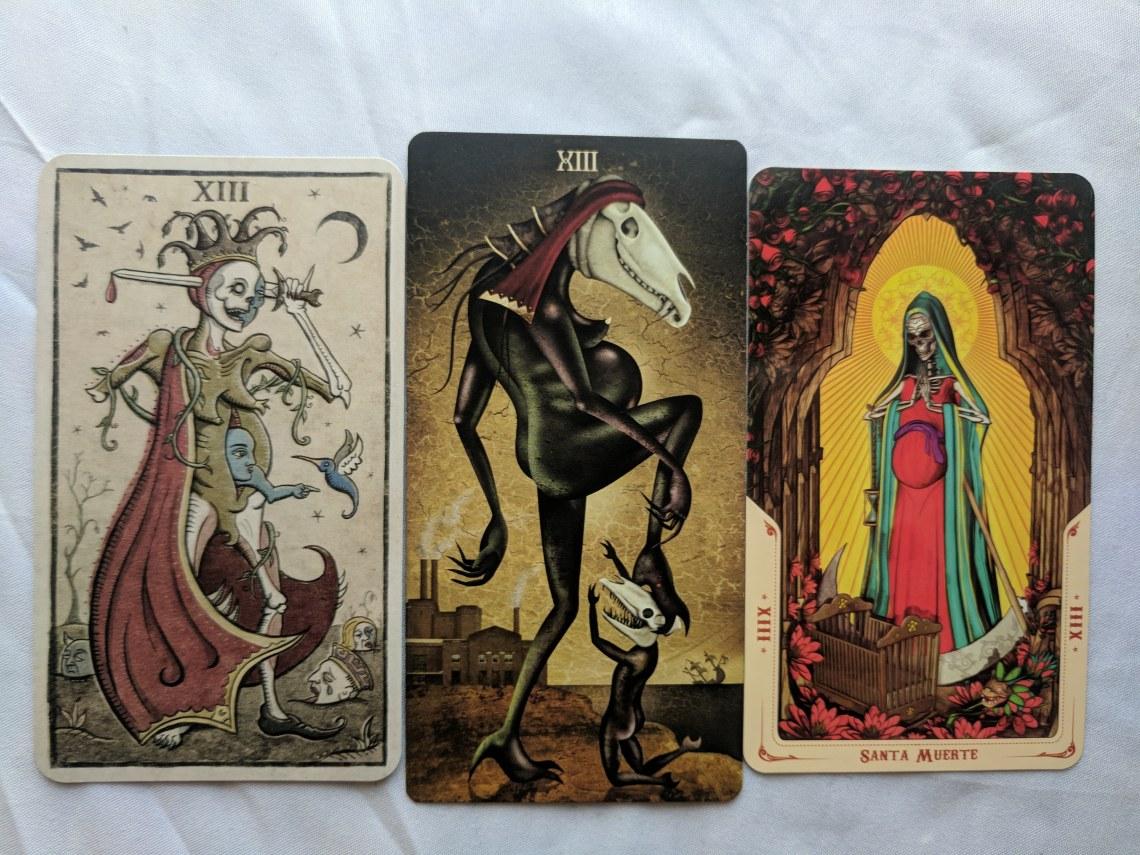 Depictions of Death In My Tarot Decks -