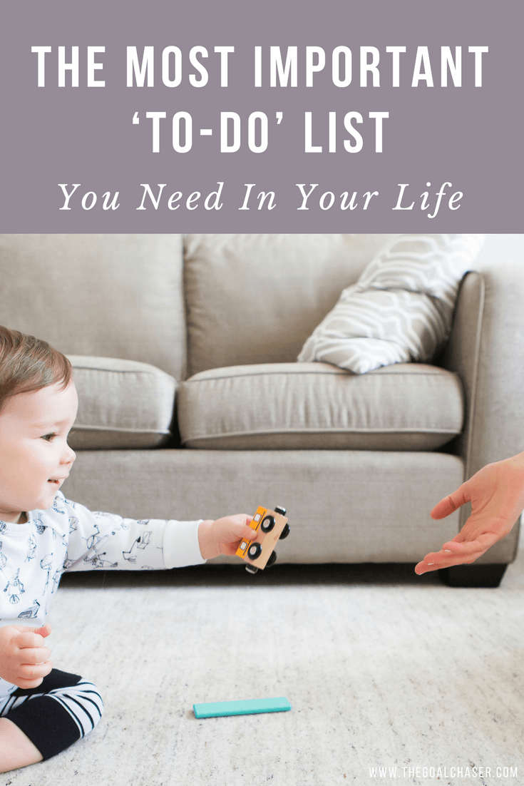 There is always going to be a hundred things that you really should get done today. If your to-do list is anything like mine, it's never ending.