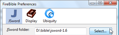 Setting up JSword in FireBible