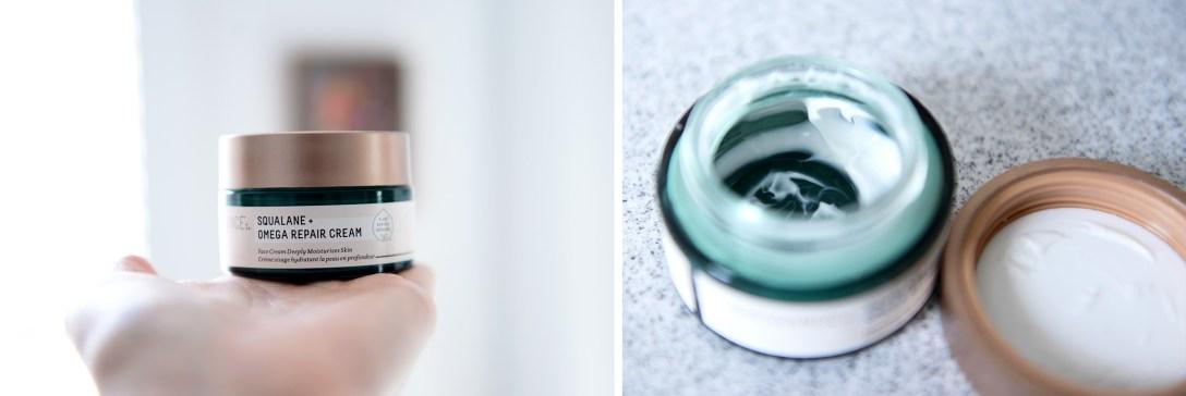 Biossance Squalene Omega Repair Cream moisturizer for the face.