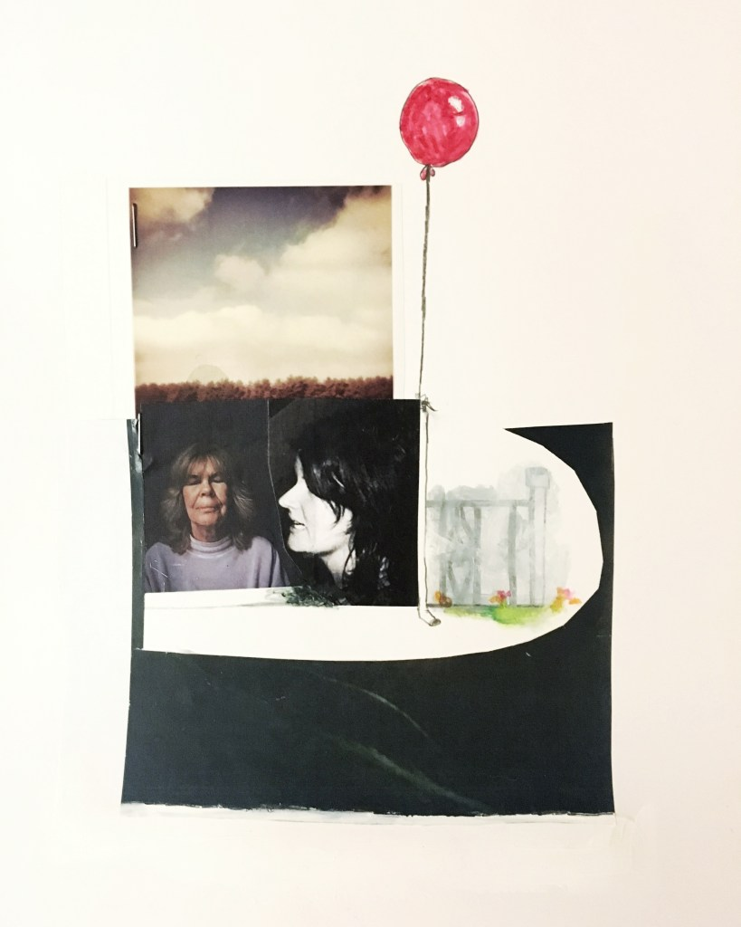 © Libby Saylor, Death Collage 10, mixed media on paper, 11″ x 15″ 2018