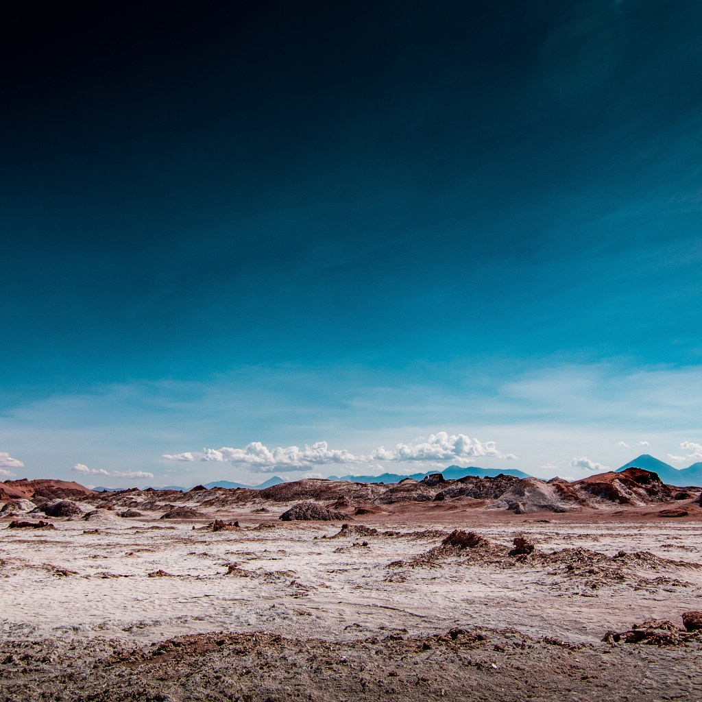 desert mountains and blue sky