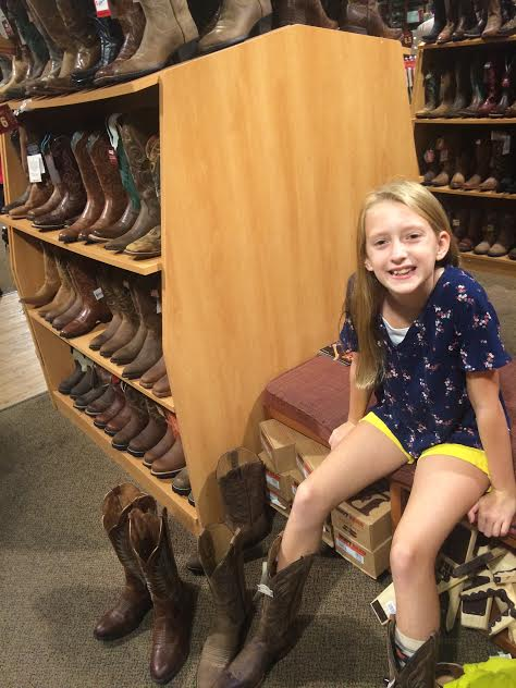 Nashville 10 year old adventure buying cowboy boots