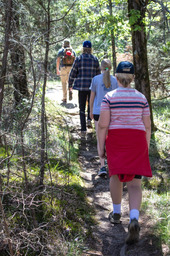 Intentional living while hiking together as a family