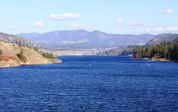 Lake Roosevelt National Recreation area during summer