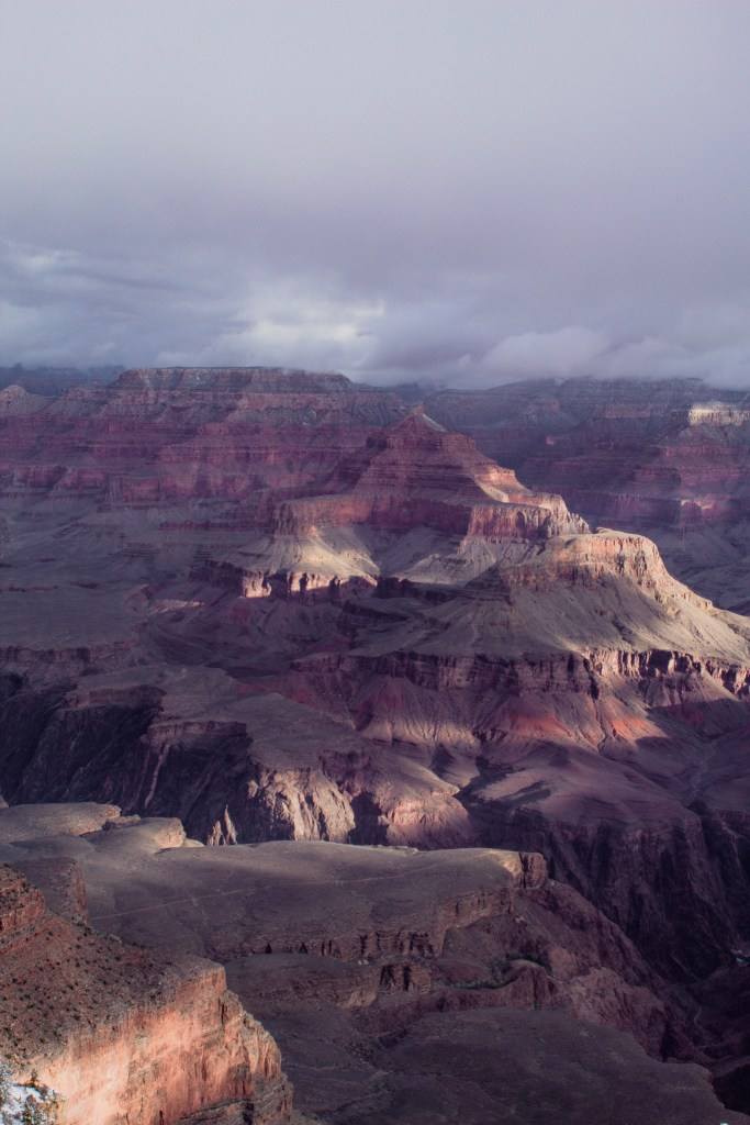 Grand Canyon National Park at sunrise in March from Mather's Point.