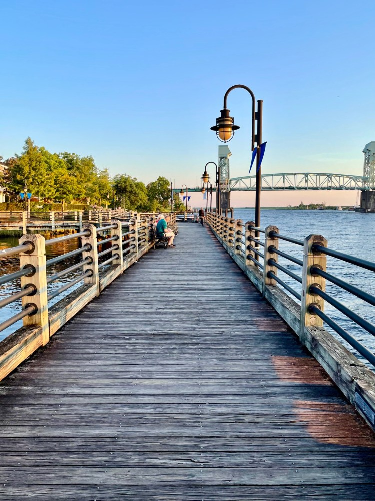 Cape Fear River view in Wilmington NC