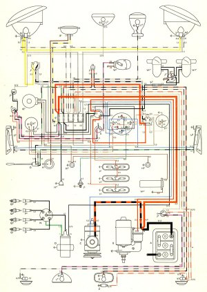 1957 Bus Wiring Diagram | TheGoldenBug