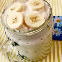 (High-Protein) Banana Cream Pie Overnight Oatmeal