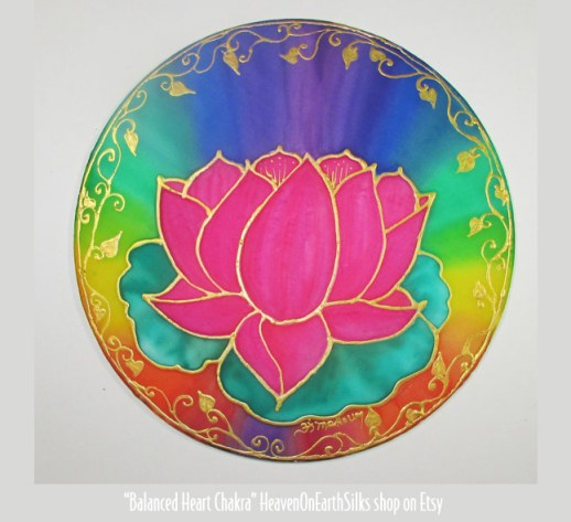 Balanced Heart Chakra - available from HeavenOnEarthSilks on Etsy