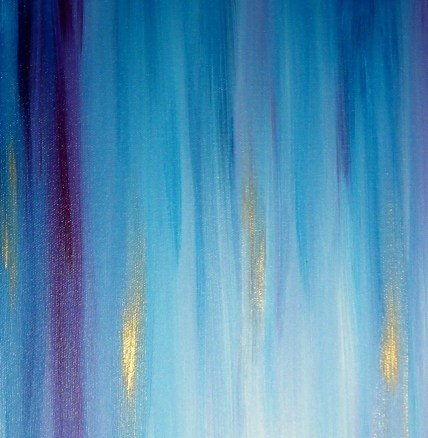 Painting By Dan Lafferty - BLUE RAINS - 36 x 72