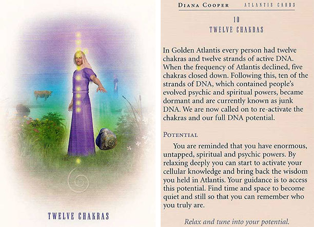 Today's Oracle Card Reading: Atlantis ~ The 12 Chakras |