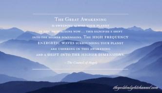 Golden Light *NOW* Moment ~ The Great Awakening