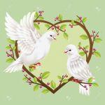 11813603-Two-Doves-on-a-heart-shape-tree--Stock-Vector-romantic-love-dove
