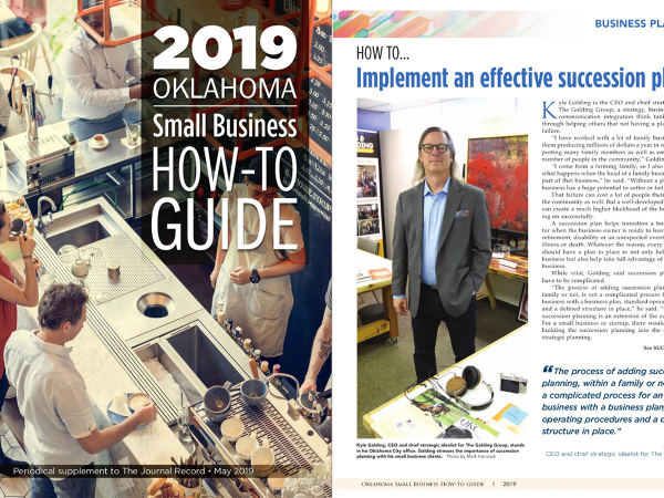 2019 Oklahoma Small Business How-to Guide: Succession Planning.