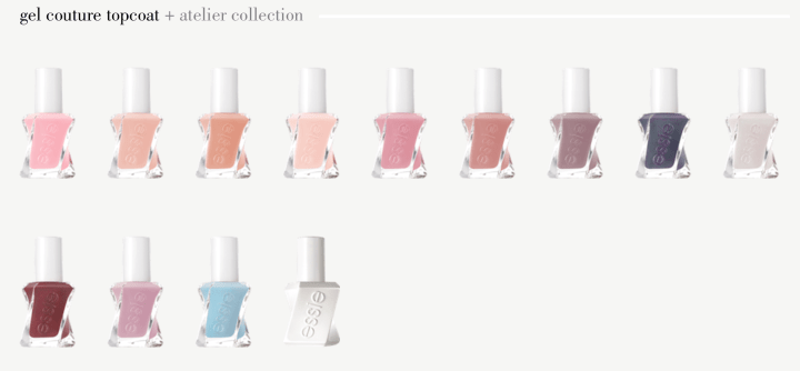 essie gel couture atelier collection neutrals