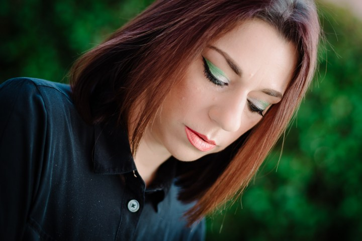 make up tutorial green