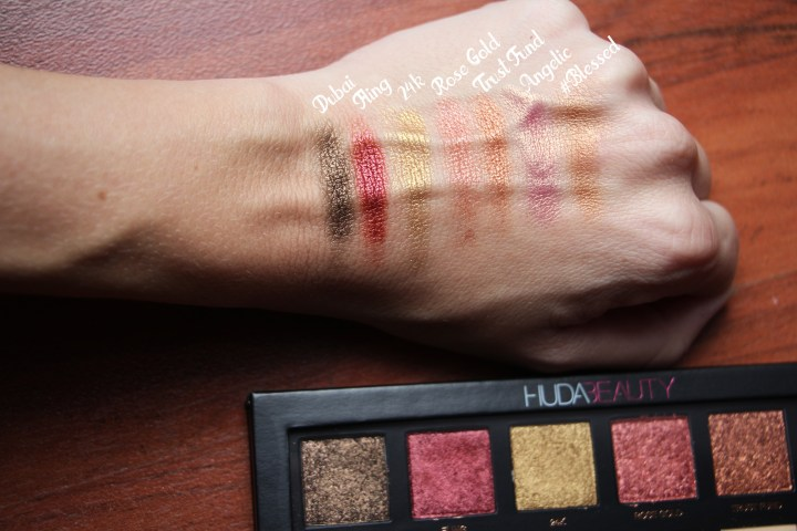 HUDA swatches metal