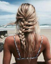 acconciatura da spiaggia Treccia