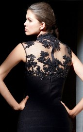 Stunning-Sheath-Short-Tulle-High-Neck-Black-Dresses-11512-1