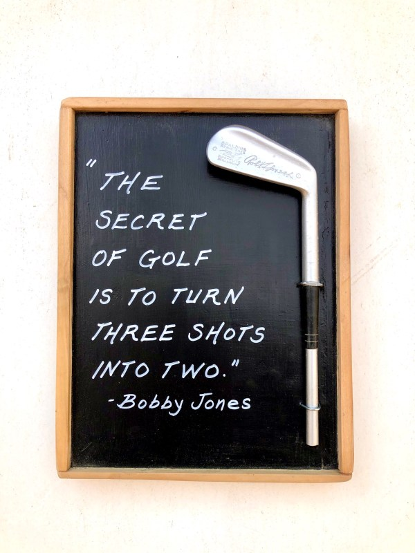 Bobby Jones Golf Plaque
