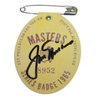 Jack Nicklaus Signed 1965 Masters Series Badge #8952
