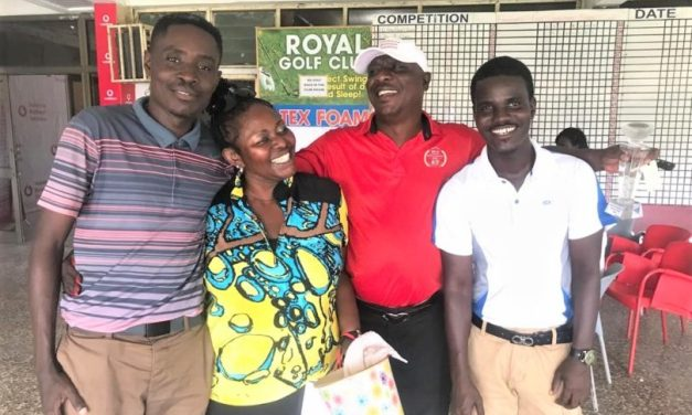 Frank Gyasi and Nana Yaw Kaitoo win Founder's Day Greensome Medal as Michael Eshun takes the CalBank 9-hole Special.