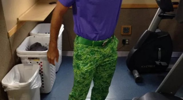 Good God, Billy Horschel's camo frog pants are hideously beautiful