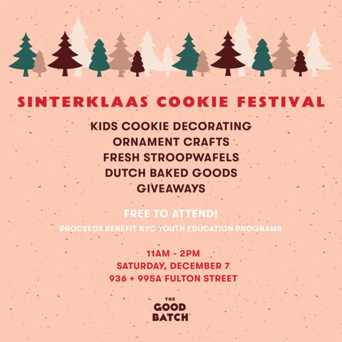 Sinterklaas Cookie Festival The Good Batch Bakery Fresh Stroopwafel