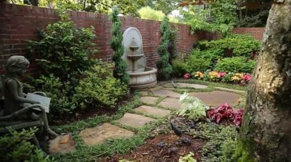 Fountain in Courtyard Garden