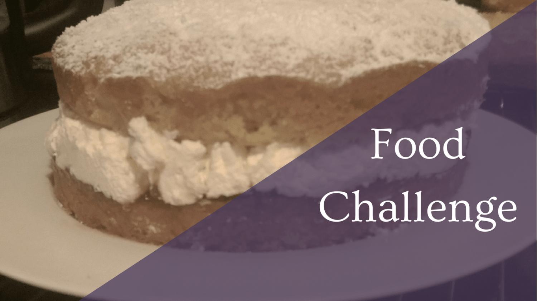 Featured Image - Food Challenge - Victoria Sponge