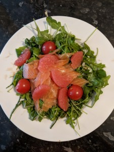 Salmon and Grapefruit salad