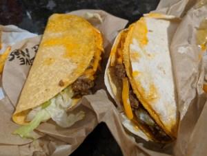 Taco Bell Hard Taco and Double Taco
