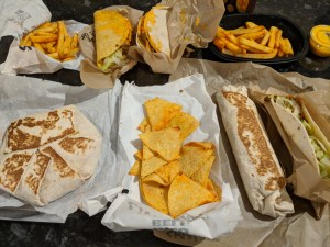 Selection of Taco Bell Food