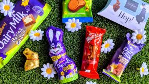 Featured Image Easter Bunnies chocolate on grass