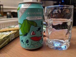 Can of Ocean Bomb Soda Apple flavour